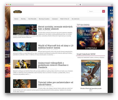 NewsMag WordPress theme free download - wow.n-games.eu