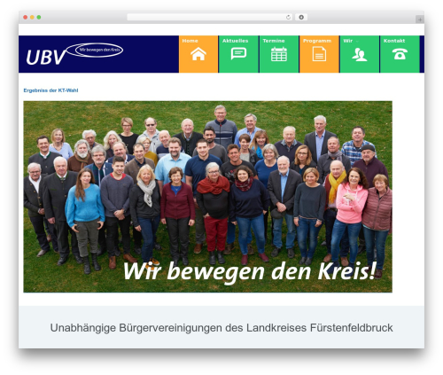 OneTouch Revision 2 WordPress theme - ubv-ffb.de