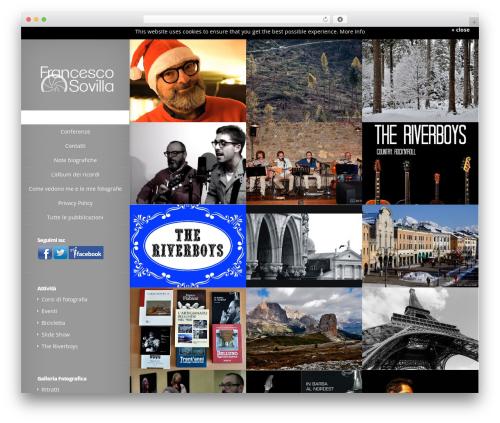 Origin WordPress theme design - francescosovilla.it