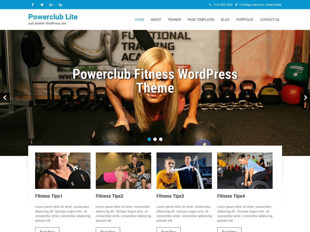 Powerclub Lite best portfolio WordPress theme