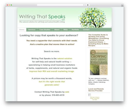 Pro Framework WordPress template for business - writingthatspeaks.com