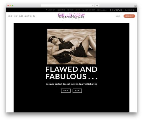 Template WordPress Flatsome - fabulousophy.com