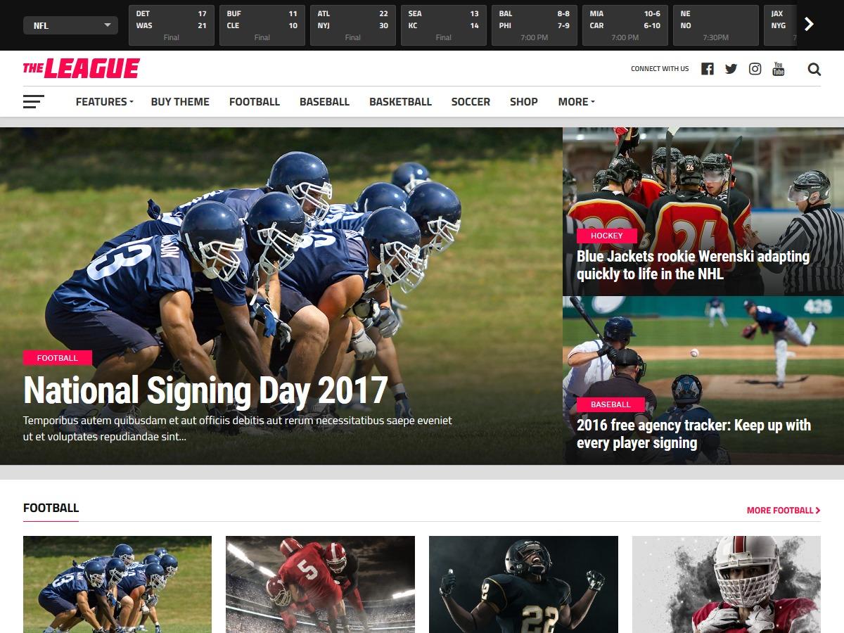 The League WordPress blog theme