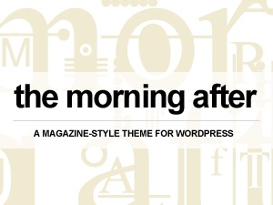 The Morning After WordPress news theme