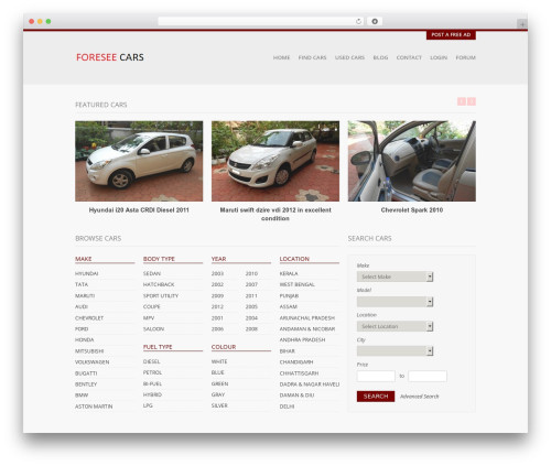 Free WordPress Theme My Login plugin - foreseecars.com