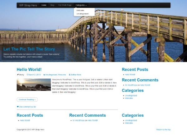 Theme WordPress WP StrapSlider Lite