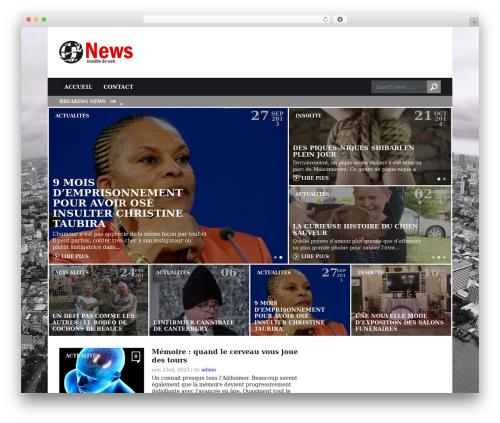 Today (shared on wplocker.com) WordPress news theme - unweb.fr