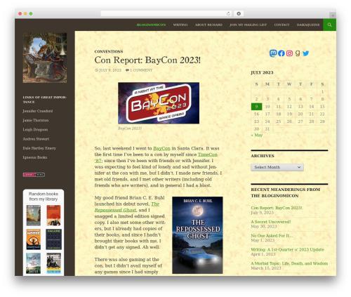 Twenty Fourteen template WordPress - underpope.com/bloginomicon