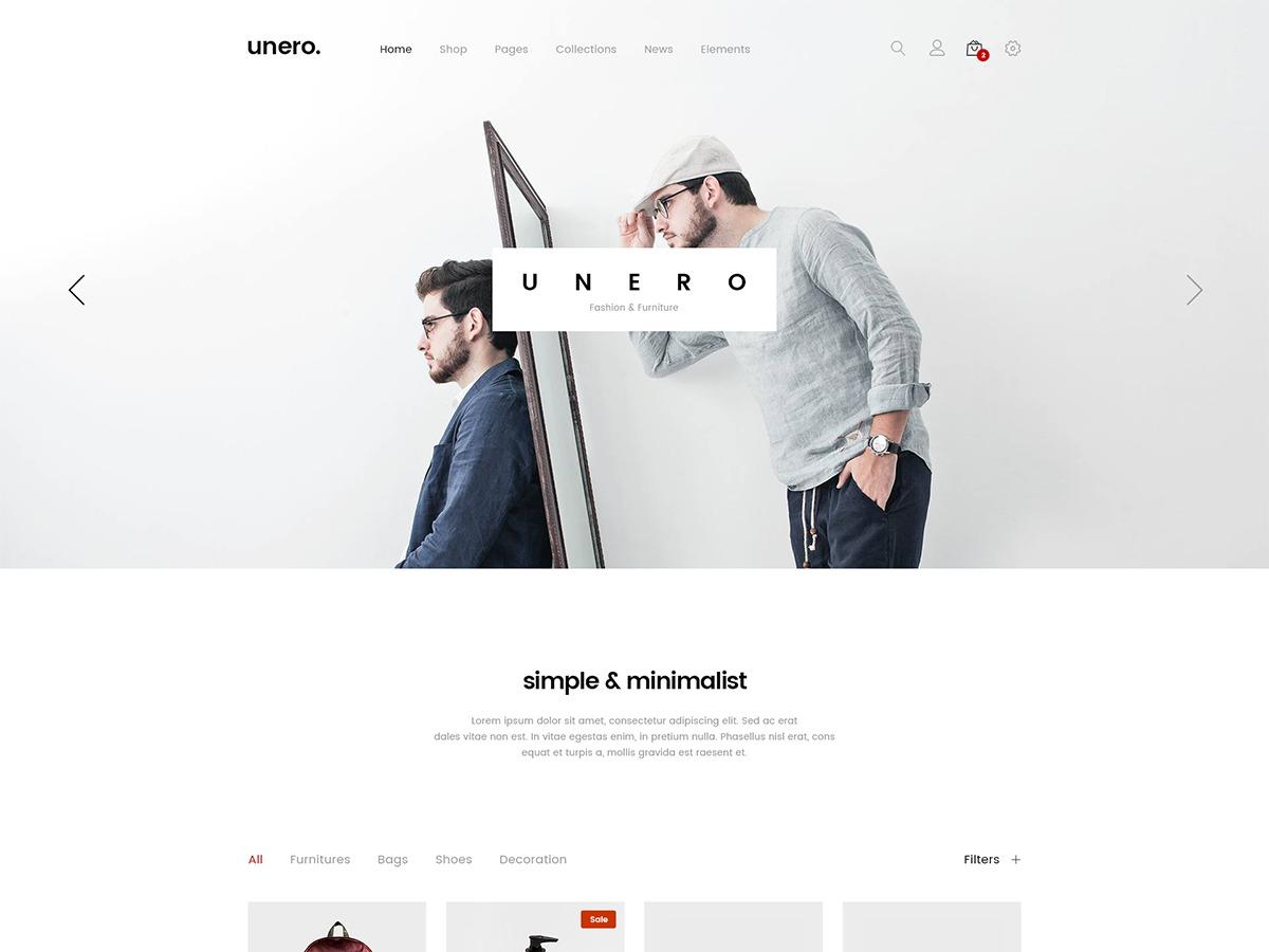 Unero WordPress store theme