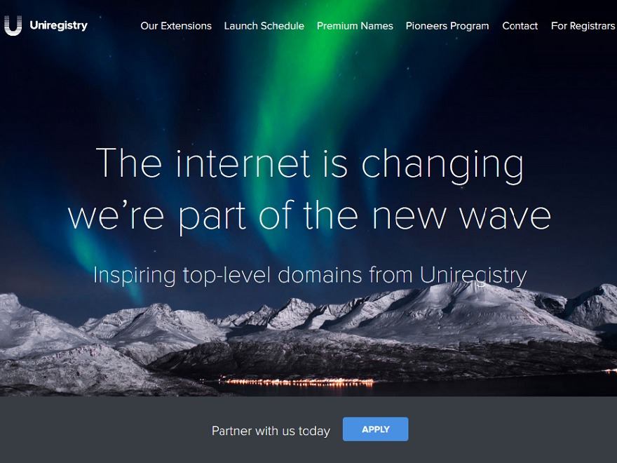 Uniregistry best WordPress theme