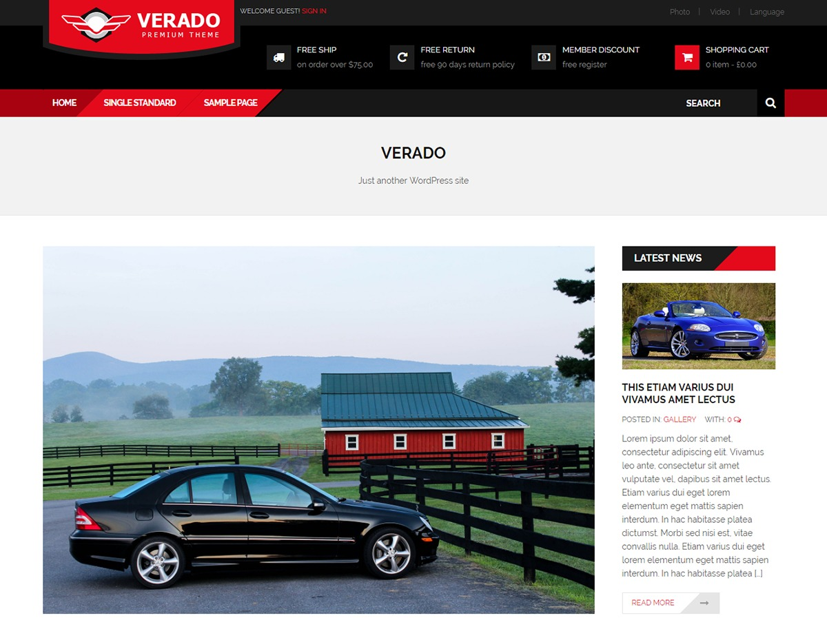 Verado Lite template WordPress free
