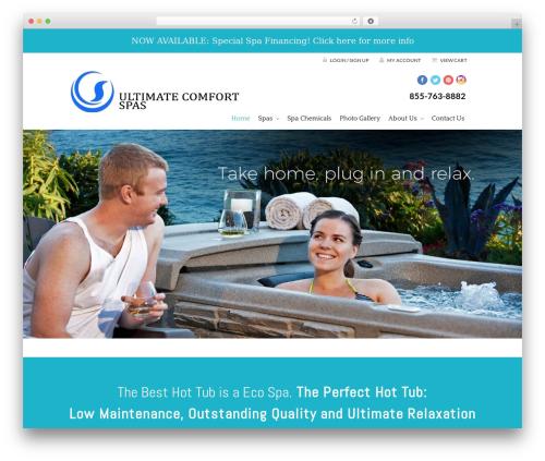 VFS best WordPress theme - ultimatecomfortspas.com