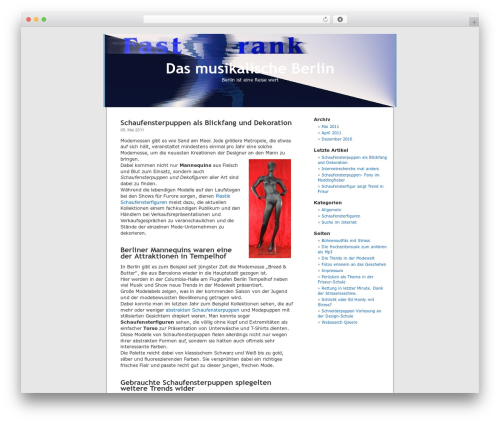 WordPress template WordPress Default DE-Edition - fast-rank.de