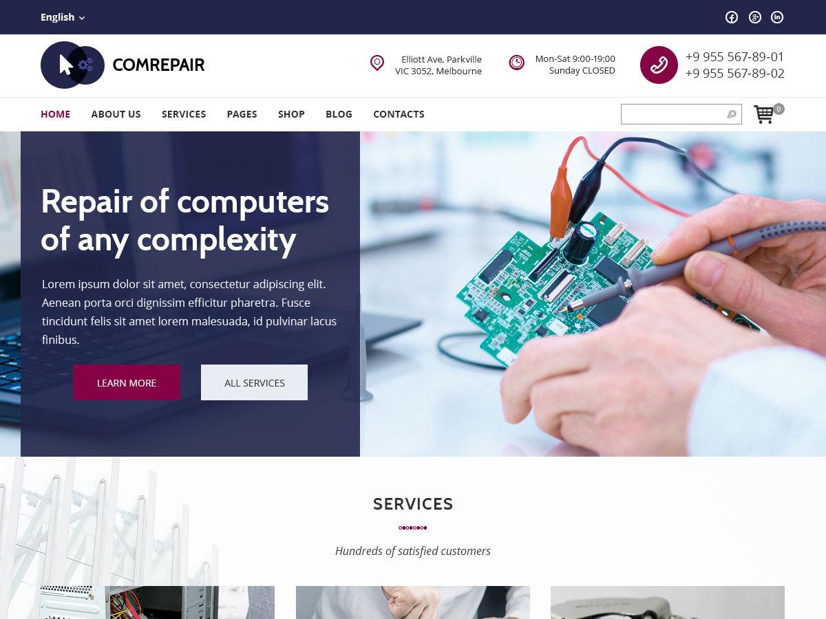 WordPress theme ComRepair