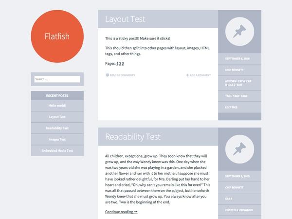 WordPress theme Flatfish