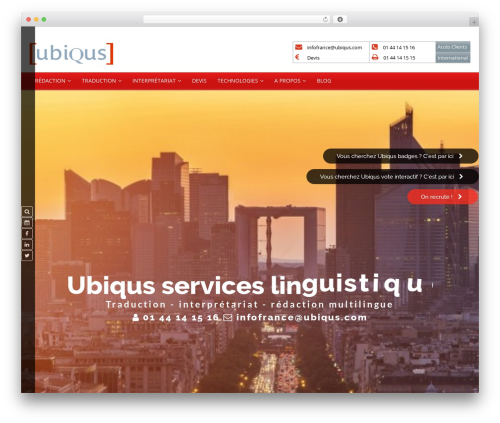 WordPress theme MX - ubiqus.fr