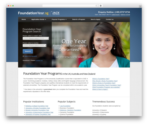 WordPress theme Nexus - foundationyear.sg