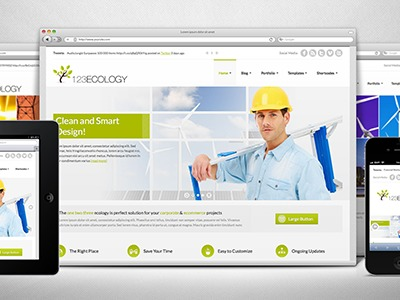 WordPress website template 123Ecology 1.1