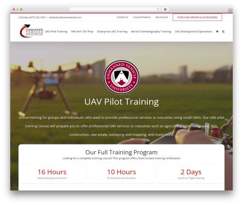 WordPress website template Avada - uxvuniversity.com