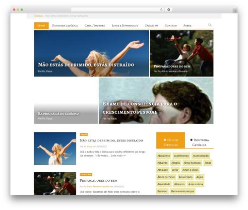 WordPress website template Ciola - fecomvirtudes.com.br