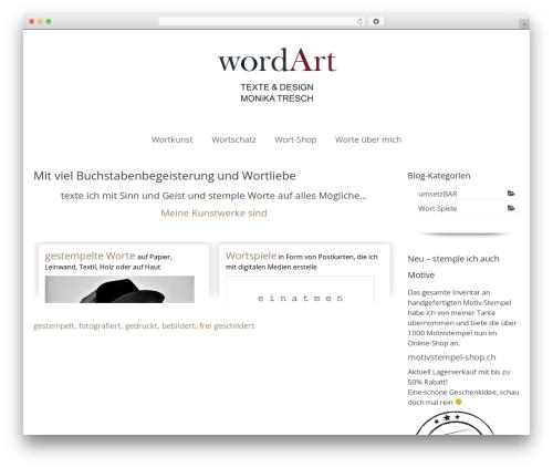 WordPress website template Virtue - wordart.ch