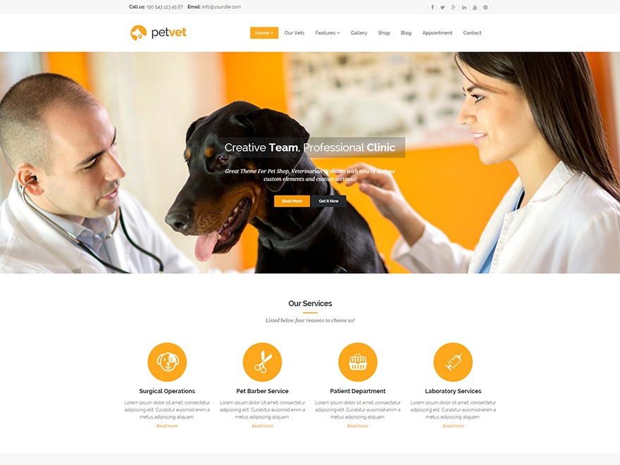 WP Petvet top WordPress theme