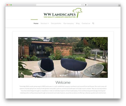 X theme WordPress - wwlandscapes.co.uk