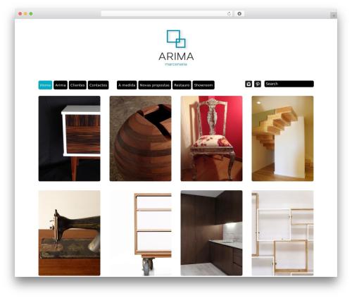 Grid Theme Responsive theme WordPress - arima.pt