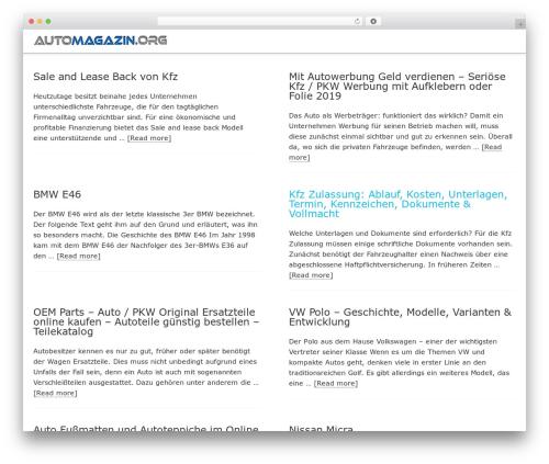 Minimum Pro WP theme - automagazin.org