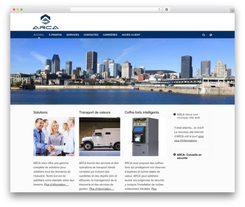 Pinpoint WordPress theme - arca4group.ca