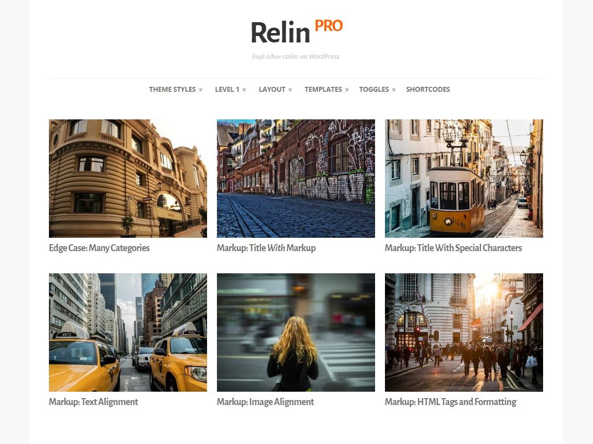 RelinPro best WordPress template