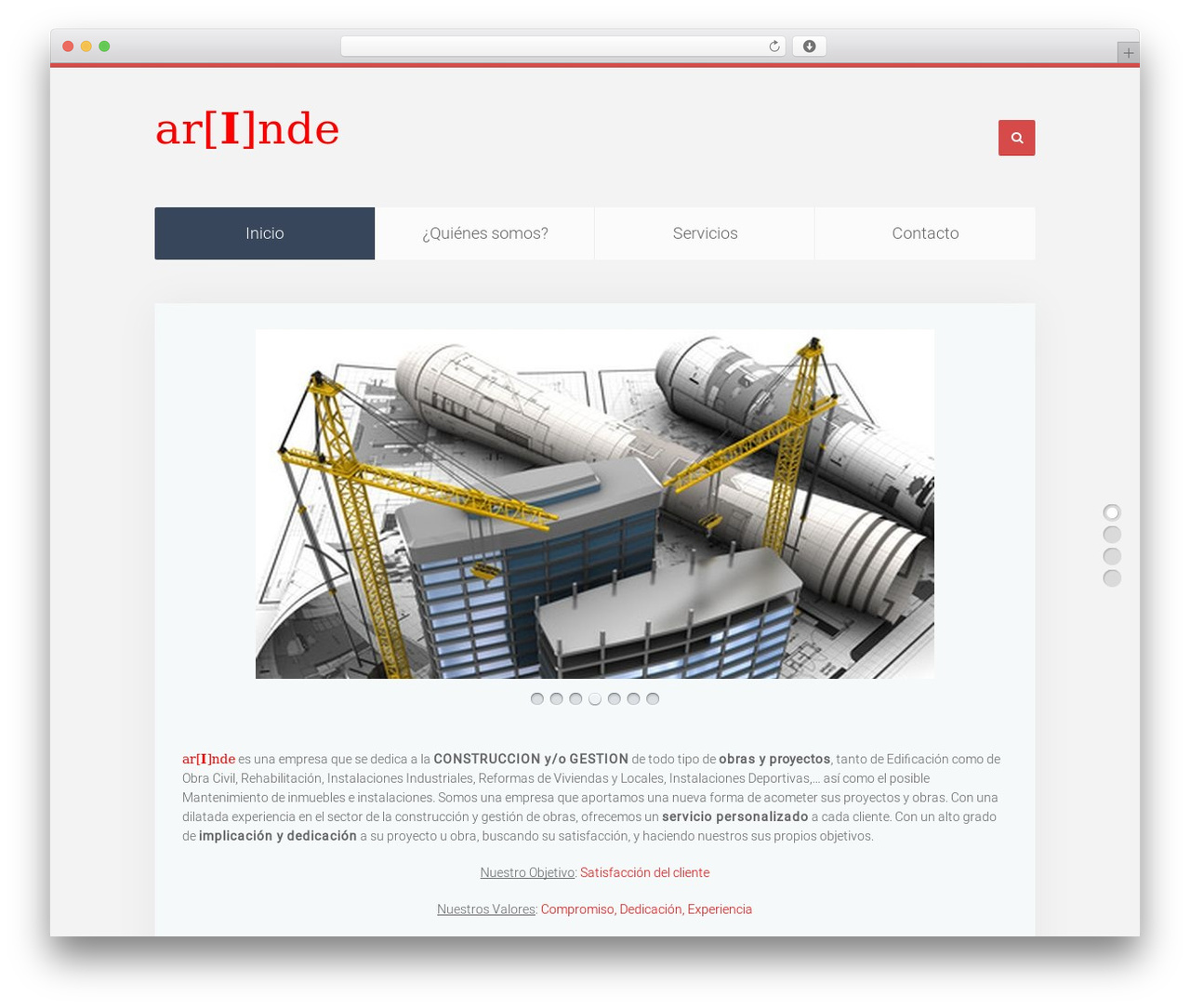 Unity WordPress theme - arinde.es