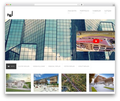 WordPress template Arkitekt - ayzen.com.tr/site