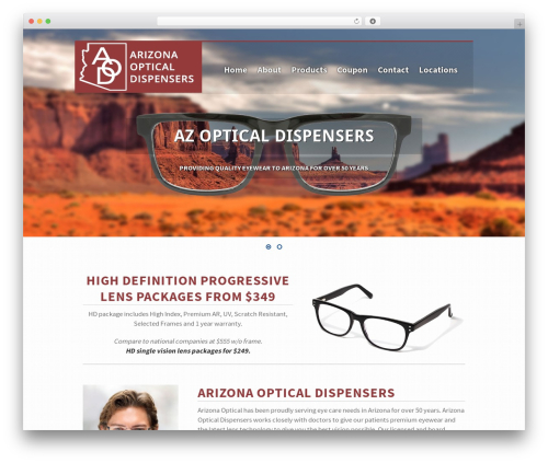 WordPress theme HEAL - arizonaopticalinc.com