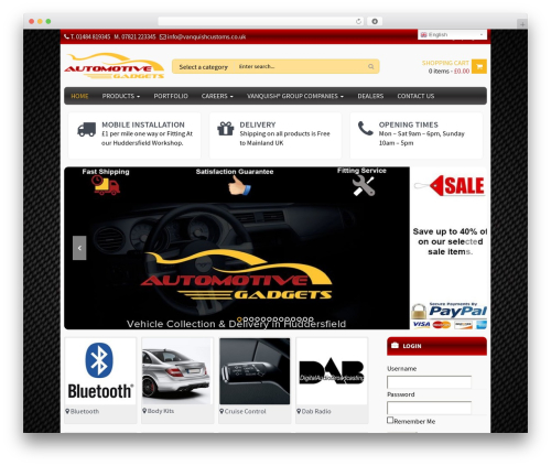 WPO Shopping theme WordPress - automotivegadgets.co.uk