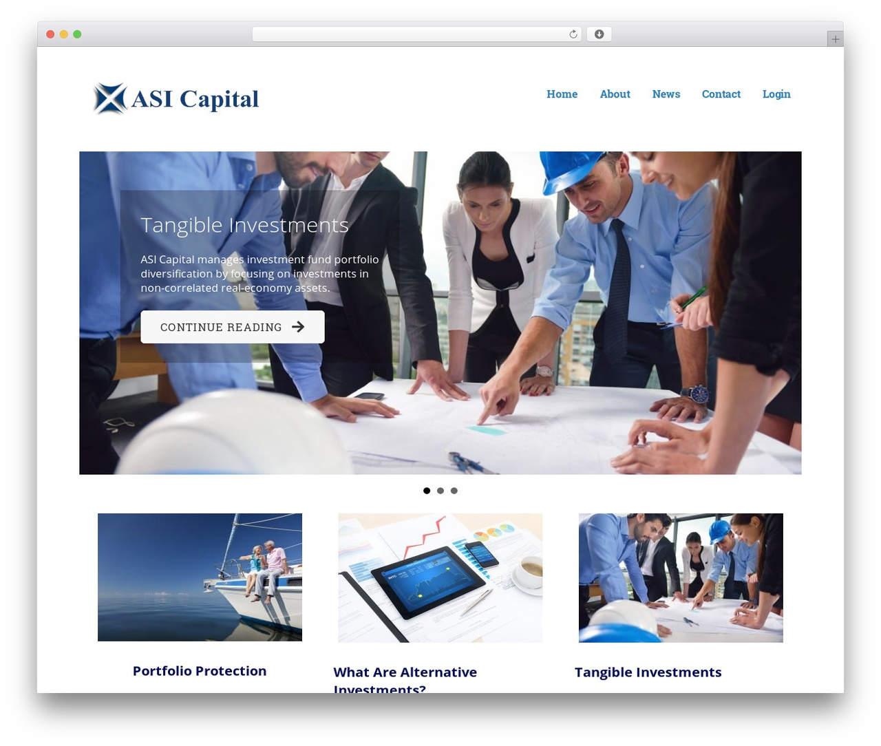 Ascension WordPress template - asicapital.com
