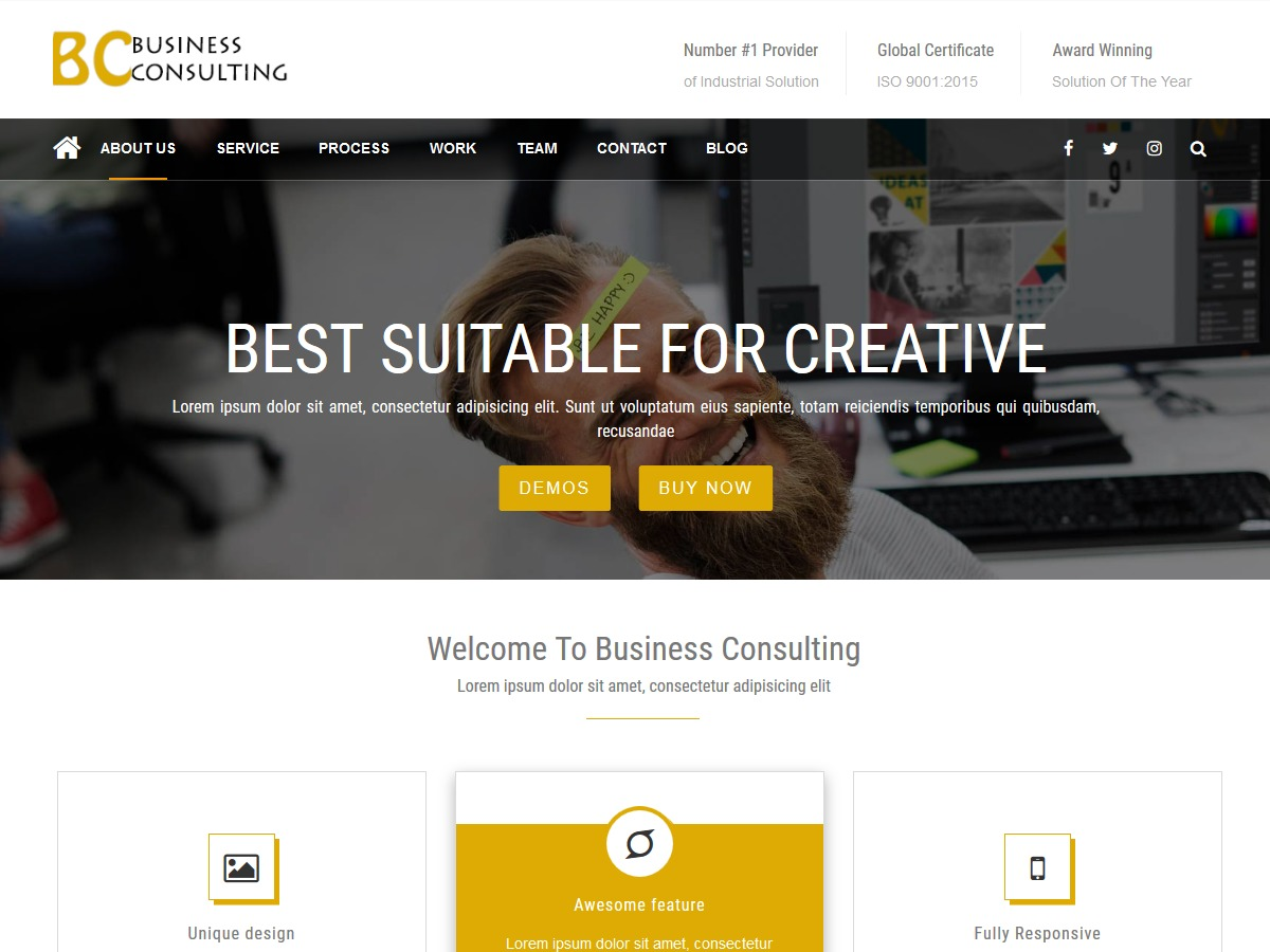 BC Business Consulting WordPress template for business
