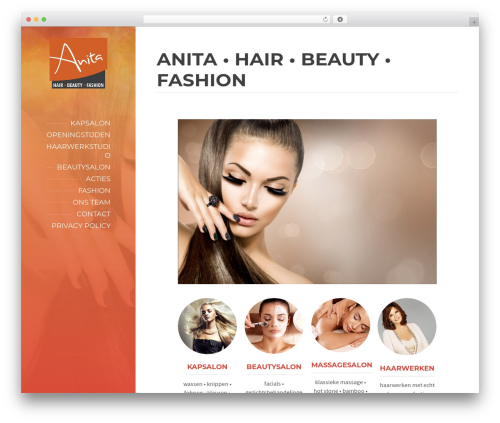 BeautySpot fashion WordPress theme - anita-hair-beauty-fashion.nl