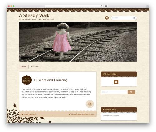 Chocolat premium WordPress theme - asteadywalk.com