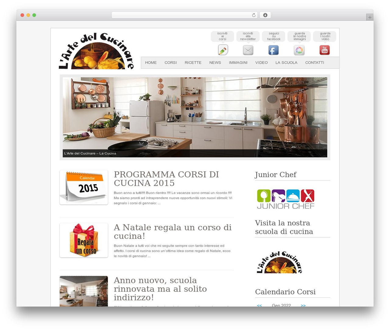 Fresh And Clean WP template - artedelcucinare.it