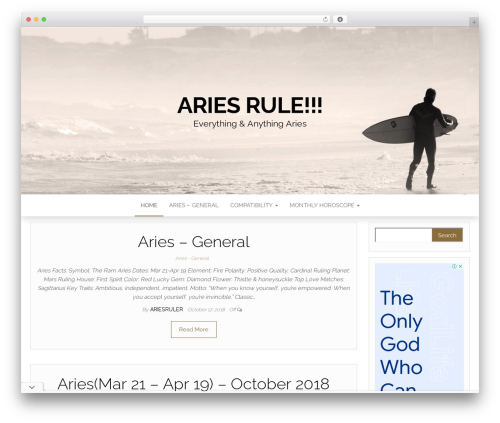 Head Blog WordPress template - ariesrule.com