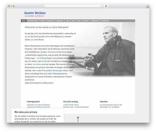 Responsive free WP theme - anselm-weidner.de