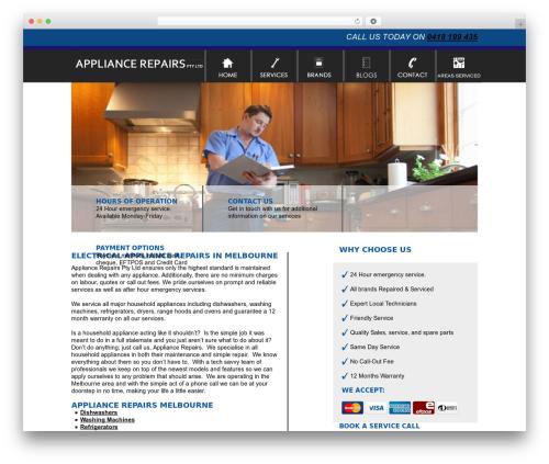 Smart Theme best WordPress theme - appliance-repairs.com.au