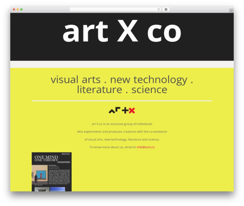 Sublime Press WordPress website template - artx.co/group