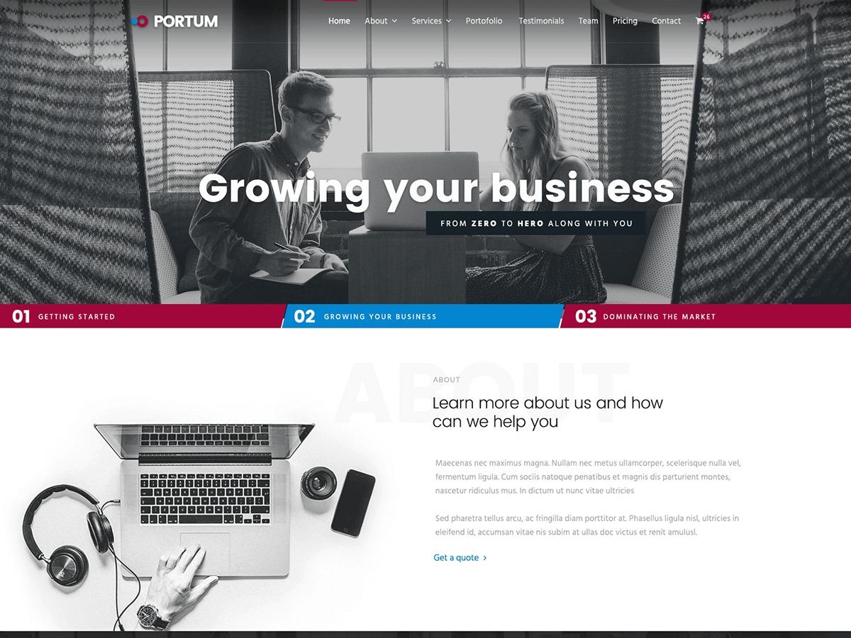 Theme WordPress Portum