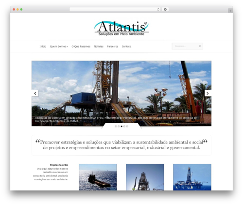 WordPress theme Evolution - atlantisambiental.com.br