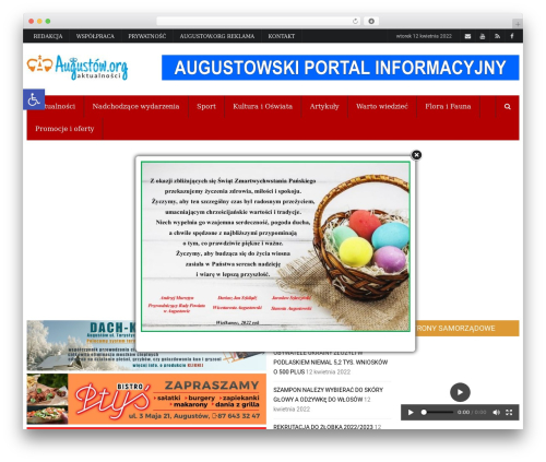 WordPress theme iPress - augustow.org