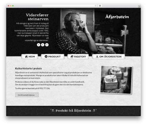Blank Child WordPress theme - aafjordstein.no