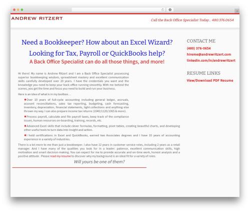 Customizr WordPress template free download - andrewritzert.com/forhire