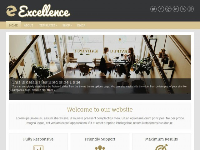 Excellence WordPress blog theme